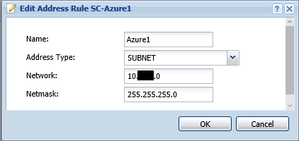 VPN Subnet Object