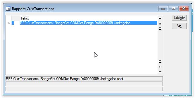 REP.xxx: RangeGet:COMGet.Range 0x80020009 Exception occurred / REP.xxx: RangeGet:COMGet.Range 0x80020009 Undtagelse opstod